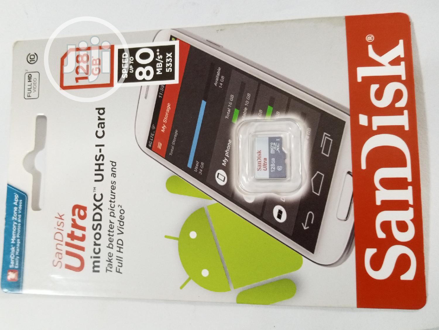 128GB Sandisk Ultra Micro SD Card | Accessories for Mobile Phones & Tablets for sale in Ikeja, Lagos State, Nigeria