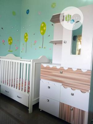 Classic Baby Wardrobe With Baby Bed | Children's Furniture for sale in Rivers State, Port-Harcourt