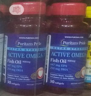 Puritans Pride Active OMEGA Fish Oil Epa/Dha   Vitamins & Supplements for sale in Lagos State, Ojo