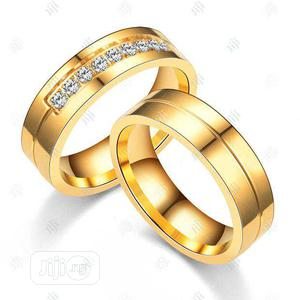 Stoned Titanium Gold Ring   Wedding Wear & Accessories for sale in Abuja (FCT) State, Mpape