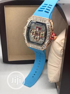 Richard Mille Men's Blue Rubber Wristwatch | Watches for sale in Lagos State, Surulere