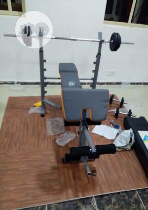 Commercial Weight Bench With 50kg Dumbbell   Sports Equipment for sale in Lagos State, Badagry