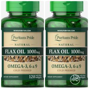 Puritans Pride Flax Oil With Omega 3 6 and 9 Cold Pressed   Vitamins & Supplements for sale in Enugu State, Enugu