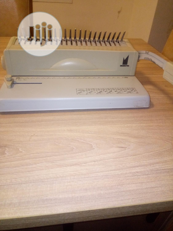 A4 Binding Machine (Grandextra) | Printing Equipment for sale in Gwarinpa, Abuja (FCT) State, Nigeria