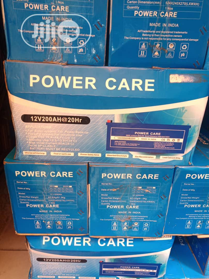 Archive: Power Care 200ah 12volts Solar Battery
