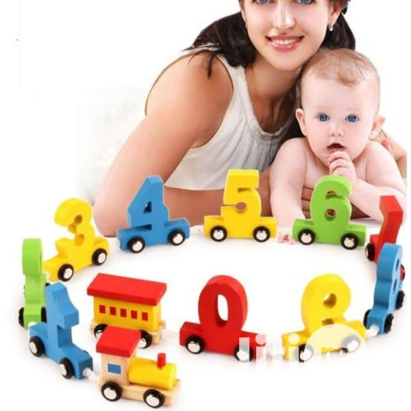 Number Wooden Educational Train Toy( FREE DELIVERY)