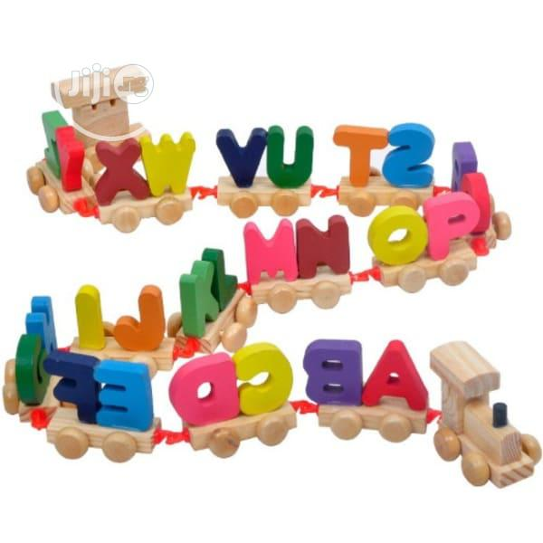 Alphabet Wooden Educational Train Toy( FREE DELIVERY)