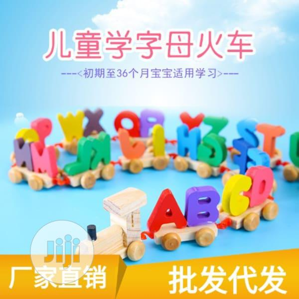 Alphabet Wooden Educational Train Toy( FREE DELIVERY) | Toys for sale in Ido, Oyo State, Nigeria