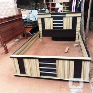 4 1/2 X 6 Bed With Side Drawer   Furniture for sale in Lagos State, Ikeja