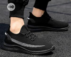 Men Sneakers Shoes - Black | Shoes for sale in Lagos State, Ojodu