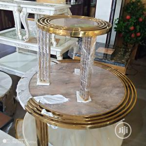 Center Table and Two Side Stools   Furniture for sale in Lagos State, Lekki
