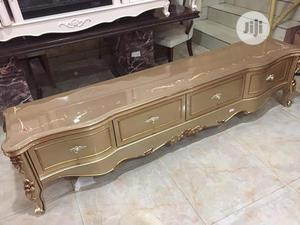 Wooden Glass Top Tv Stand | Furniture for sale in Lagos State, Ojo