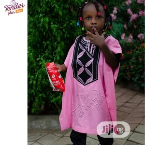 -Girls Baby Pink Agbada With Embroidery | Children's Clothing for sale in Lagos State, Ojodu