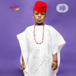 Boys White Agbada With Beads and Red Cap | Children's Clothing for sale in Lagos State, Ojodu