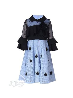 Girl 2 Piece Blue/ Black Occasion Dress | Children's Clothing for sale in Lagos State, Yaba