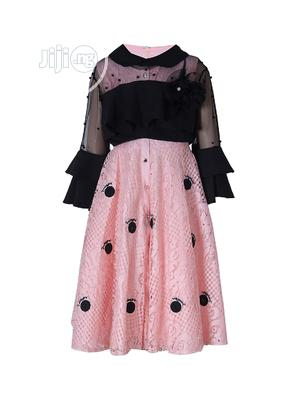 Girl's 2 Piece Peach / Black Occasion Dress | Children's Clothing for sale in Lagos State, Yaba