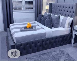 6 By 6 Padded Bed With Bed Sides   Furniture for sale in Lagos State, Agege