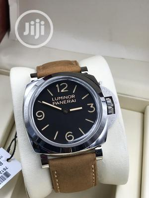 Luminor Panerai Silver Leather Strap Watch   Watches for sale in Lagos State, Lagos Island (Eko)