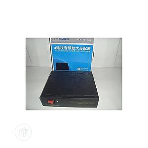 Av Load Video Audio Amp Splitter 4 Ways Black 4ways Suoer | Computer Accessories  for sale in Lagos State, Ikeja