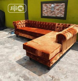 Chestified Burnt Orange Sofa   Furniture for sale in Lagos State, Ikorodu