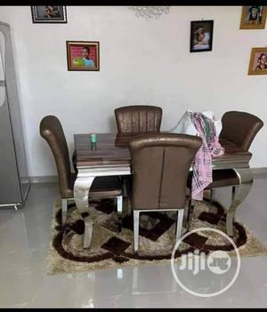High Quality Marble Dining Table by 4 Chairs | Furniture for sale in Lagos State, Ojo