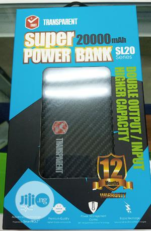 Transparent Super Power Bank 20,000 Mah   Accessories for Mobile Phones & Tablets for sale in Lagos State, Ikeja