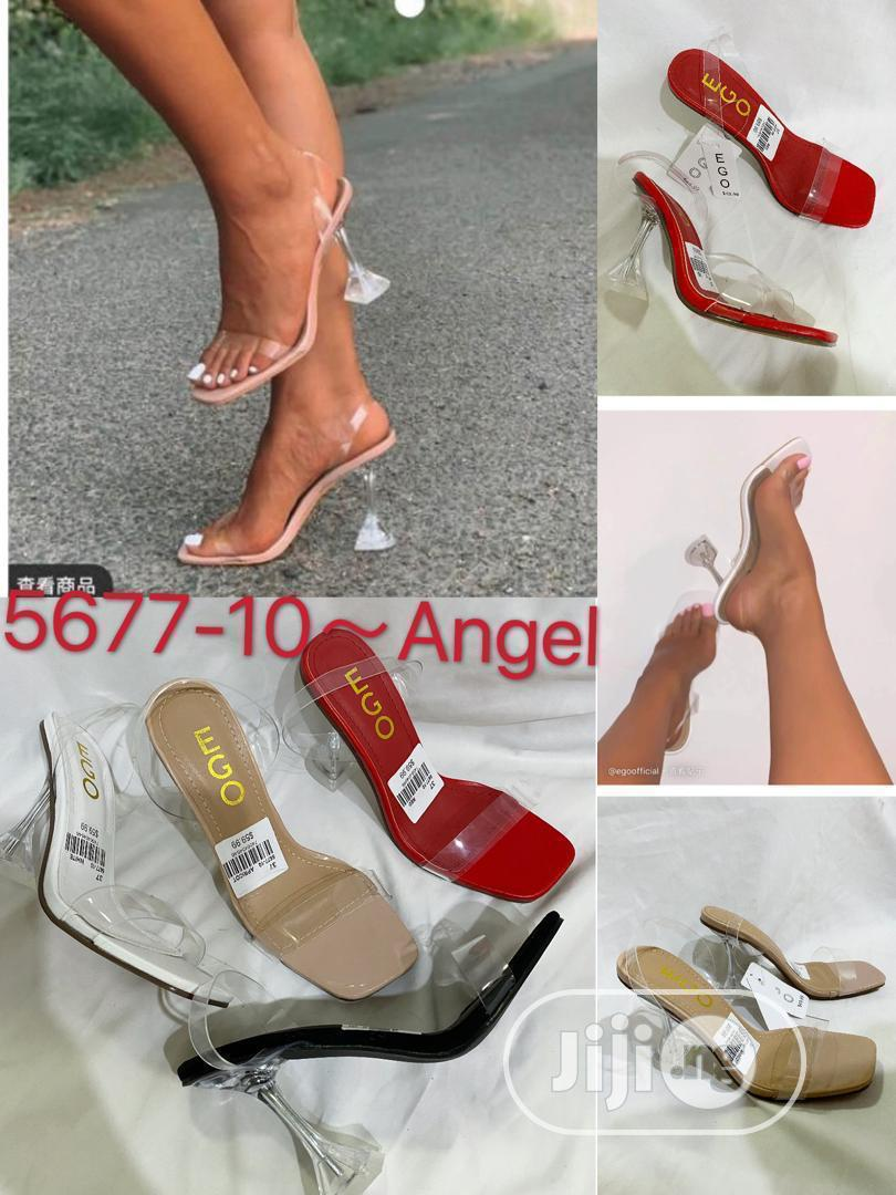 Ladies Transparent Heels Slippers | Shoes for sale in Lagos Island (Eko), Lagos State, Nigeria