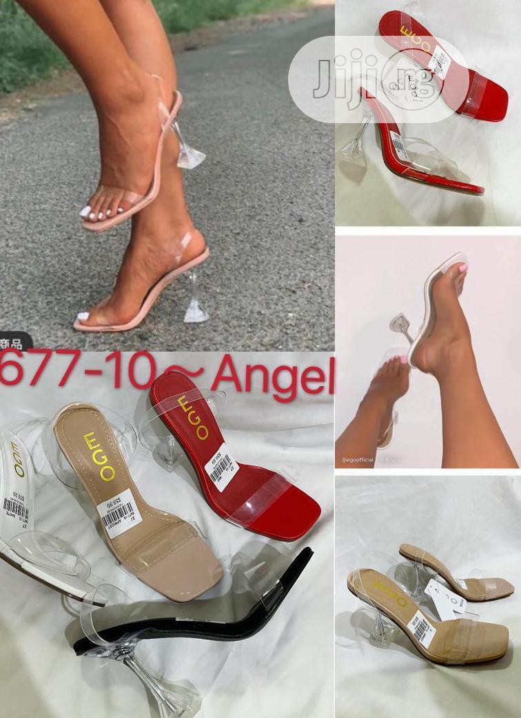 Ladies Transparent Heels Slippers