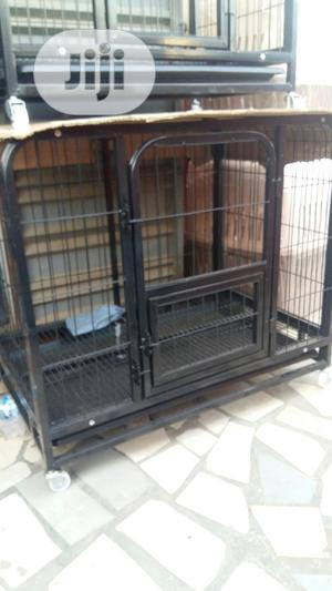 Heavy Duty Pet Dog Cage Large With Wheels   Pet's Accessories for sale in Lagos State, Agege