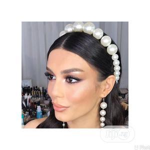 Bridal Jewelry Set Headband+Pearl Drop Ear Ring For Wedding | Wedding Wear & Accessories for sale in Oyo State, Ibadan