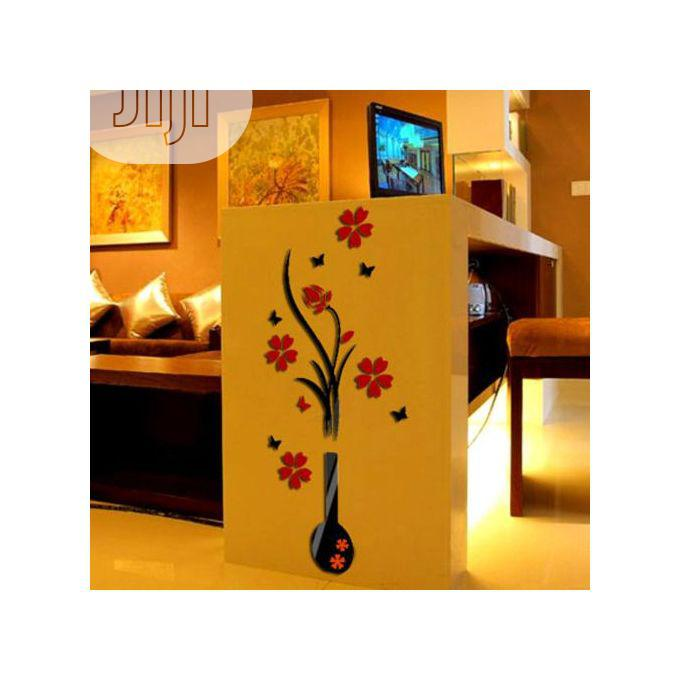 Archive: Wall Stickers Diy Vase Flower Tree Crystal 3d Wall Stickers