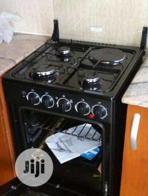 Midea Standing Gas 3+1 Gas & Electric Oven Grill Fast Burner | Kitchen Appliances for sale in Lagos State, Ojo