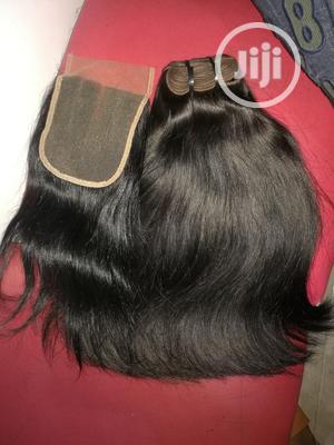 Straight Human Hair With Closure | Hair Beauty for sale in Lagos State, Lagos Island (Eko)