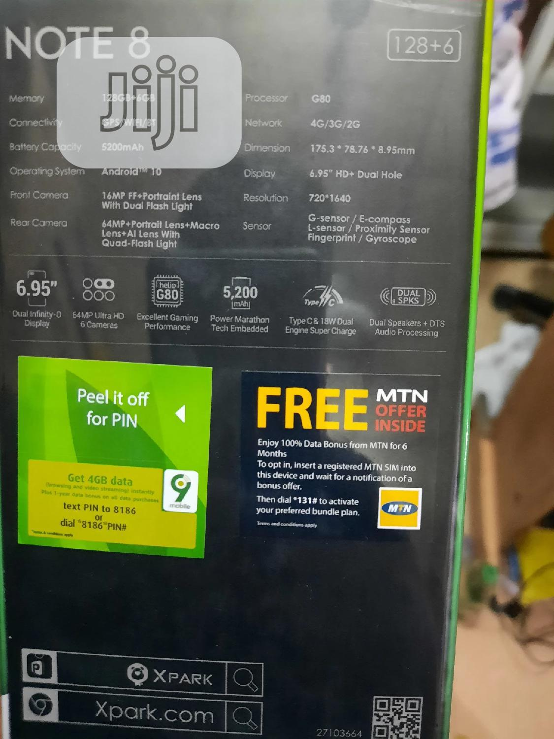 New Infinix Note 8 (x692) 128GB | Mobile Phones for sale in Ikeja, Lagos State, Nigeria