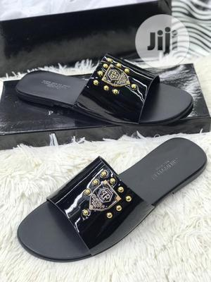 Original Phillip Plein Black Leather Slippers Available | Shoes for sale in Lagos State, Surulere