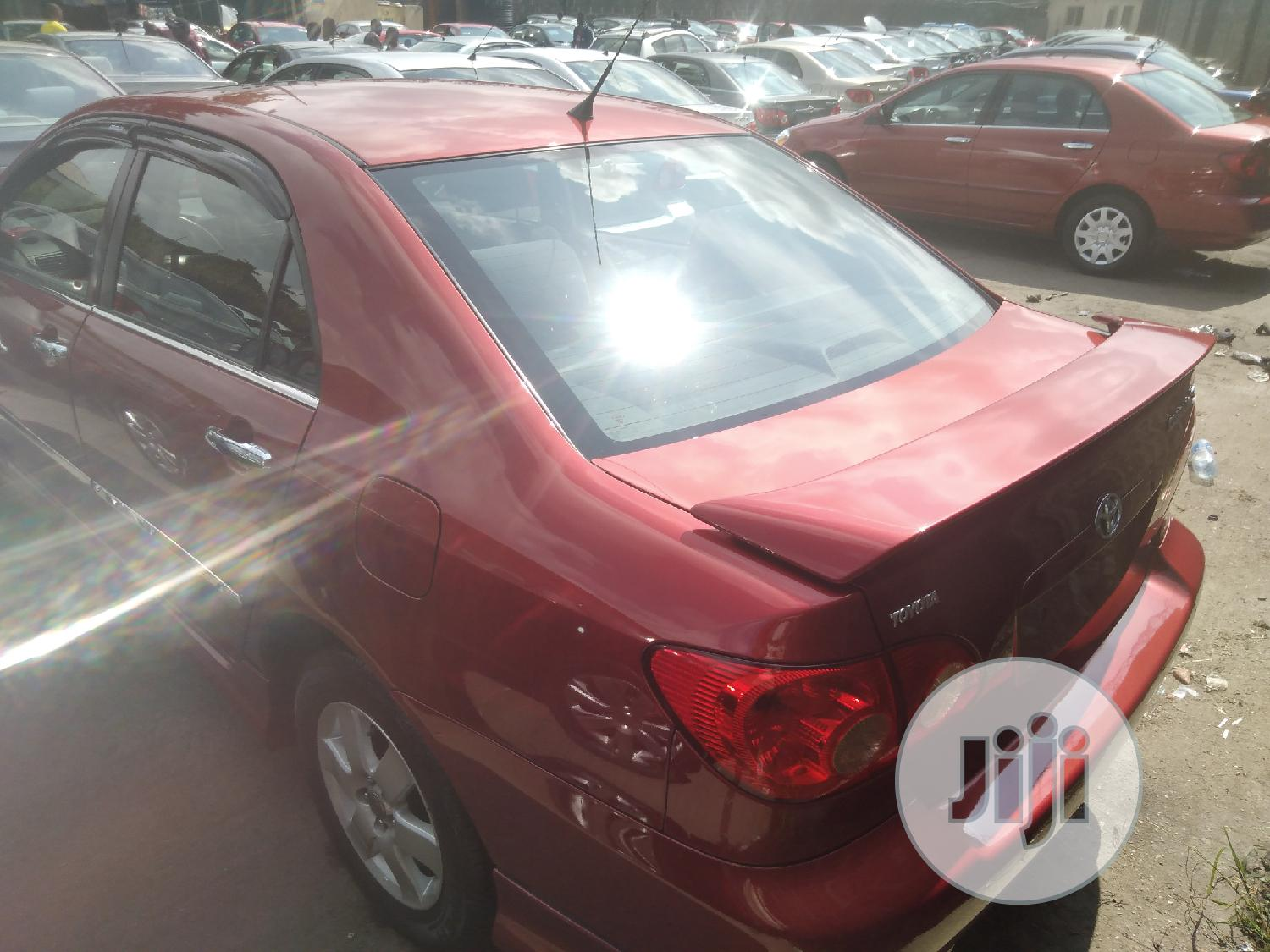 Toyota Corolla 2007 S Red | Cars for sale in Apapa, Lagos State, Nigeria
