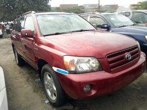 Toyota Highlander 2004 Limited V6 FWD Red | Cars for sale in Lagos State, Amuwo-Odofin