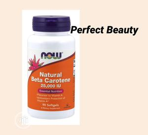 Now Foods Natural Beta Caortene 25,000 IU 90 Softgels | Vitamins & Supplements for sale in Lagos State, Ikeja