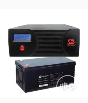 One Battery and 1.2kva Mercury Inverter Complete Set | Solar Energy for sale in Lagos State, Ikeja