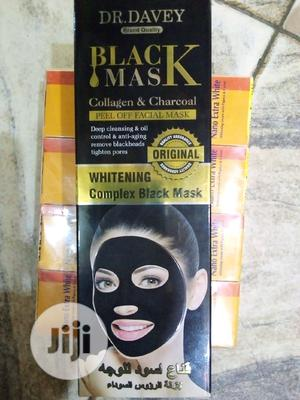 Doc Davey Black Mask Collagen & Charcoal | Skin Care for sale in Lagos State, Ojo