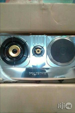 Original And Quality Stainless 2 Gas And 1 Electric Cooker | Kitchen Appliances for sale in Lagos State, Ikeja