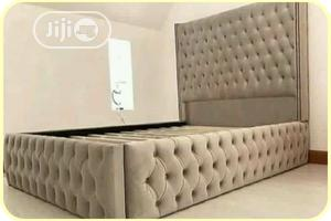 Quality 6 by 6 Padded Bed Frame | Furniture for sale in Lagos State, Ojodu