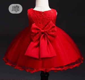 Baby Gown With Back Bow Design and Head Band   Children's Clothing for sale in Lagos State, Lagos Island (Eko)