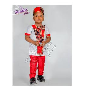 Cute Boys Isiagwu Native-Red and White | Children's Clothing for sale in Lagos State, Ojodu
