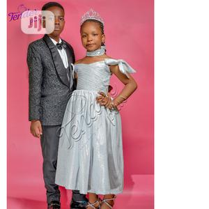 Siblings Outfit-Black Tuxedo and Silver Dress | Children's Clothing for sale in Lagos State, Ojodu
