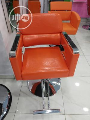 Orange Leather Barber Chair | Salon Equipment for sale in Lagos State, Yaba