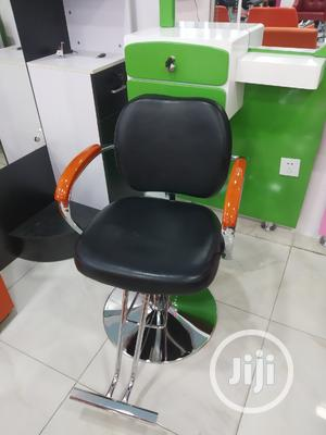 Simple Leather Barber Chair- BLACK | Salon Equipment for sale in Lagos State, Yaba