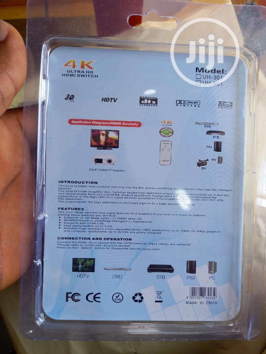 4k Ultra HDMI Switch 5 Port | Accessories & Supplies for Electronics for sale in Ikeja, Lagos State, Nigeria