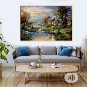Canvas Prints Home Decoration Maison Mountain Lake Art | Arts & Crafts for sale in Lagos State, Lagos Island (Eko)