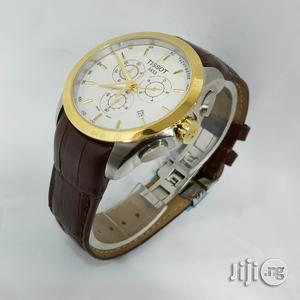 Tissot 1853 Chronograph Leather Wristwatch   Watches for sale in Lagos State, Oshodi